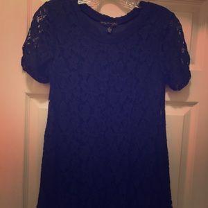 Navy blue juniors lace dress